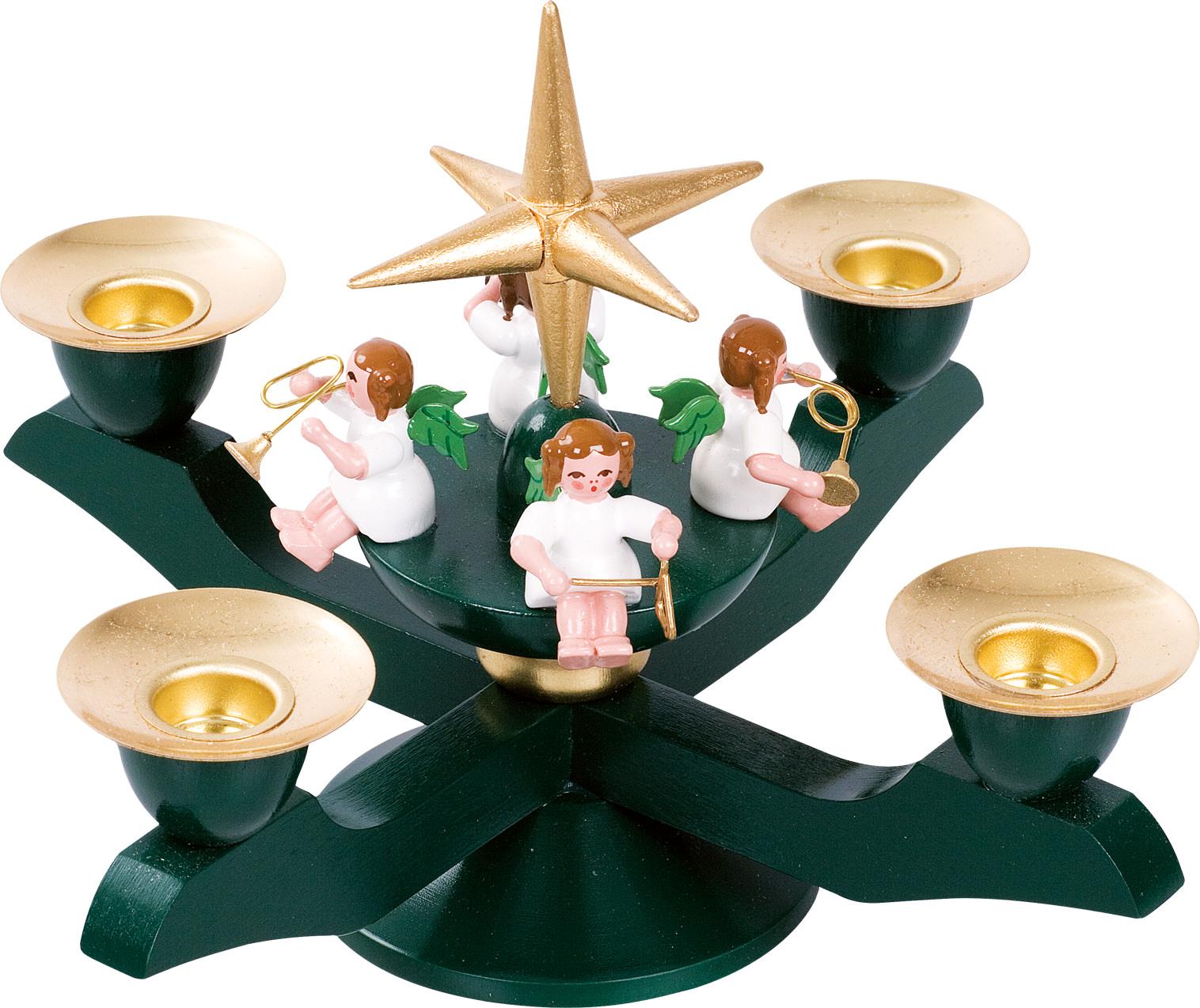 glässer adventsleuchter grün klein - adventsleuchter