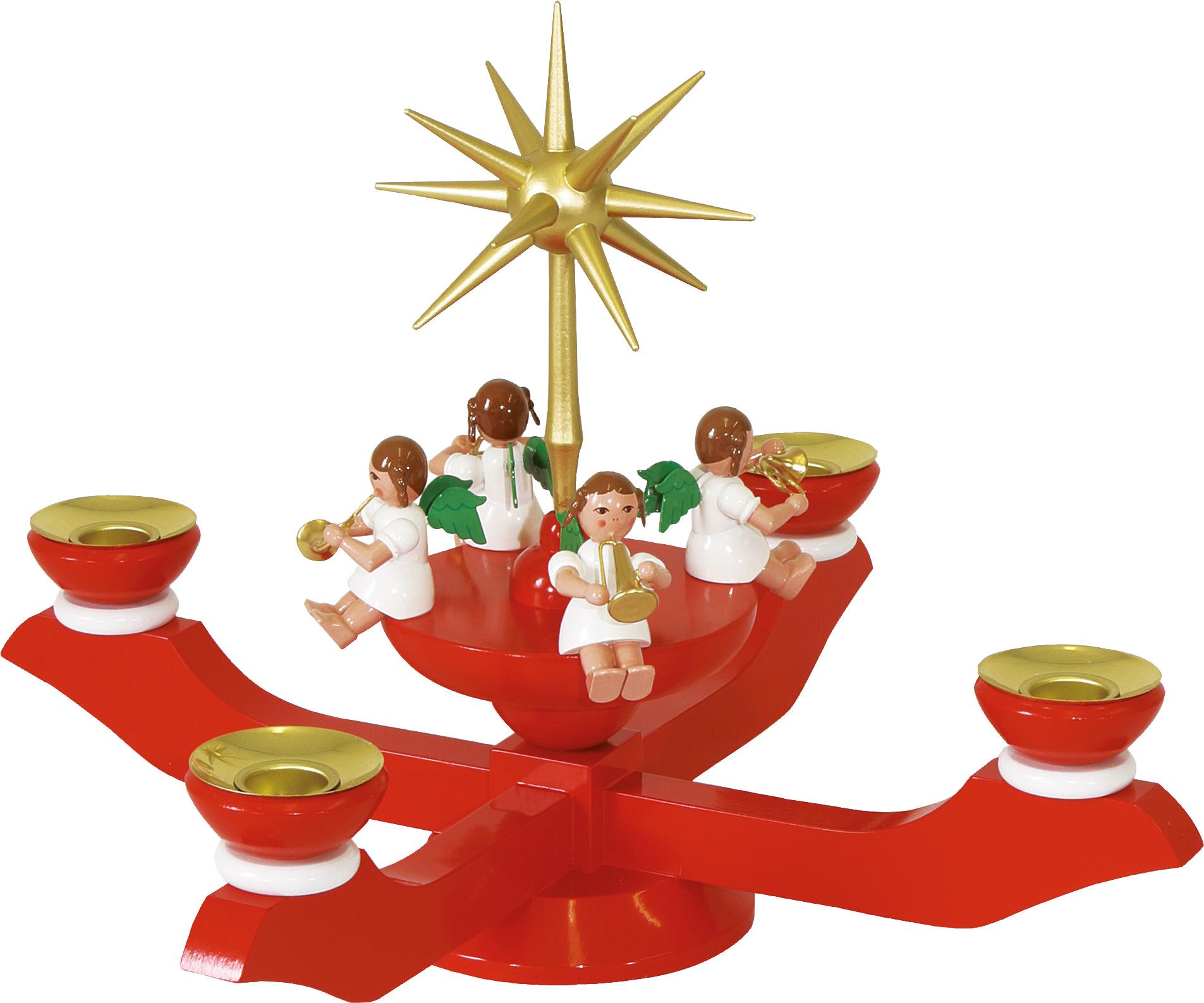 glässer adventsleuchter rot - adventsleuchter