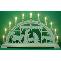 Candle arch - The Nativity, stable