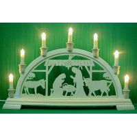 Candle arch - The Nativity, stable, 7can