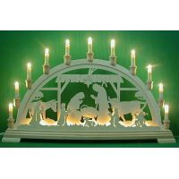 Candle arch - The Nativity, stable, extra
