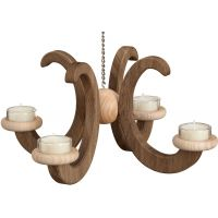 Ceiling candlestick, oak naturally smoked