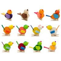 12 birds with clip, 60mm