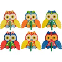 6 owls with clip