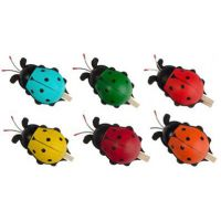 6 colored chafers, 5cm