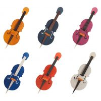 Tree ornaments - Double bass, set