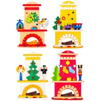 Tree ornaments - Fireplaces, set