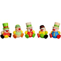 Ball figures Clowny hanging, 5-pieces, 4,5cm