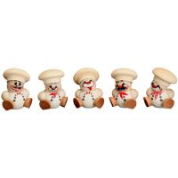 Ball figures Cook hanging, 5-pieces, 4cm