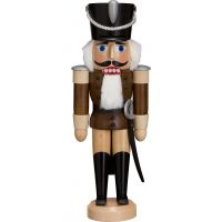 Nutcracker - Hussar, brown glaze, 28cm