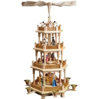Glässer Pyramid Nativity, colored, 54cm