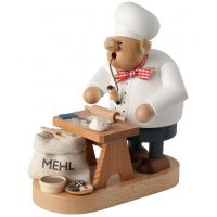 Smoking man Christmas baker, 20cm