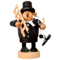 Smoking man Chimney sweeper, 22cm