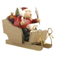 1 Santa Claus on sleigh, 20cm