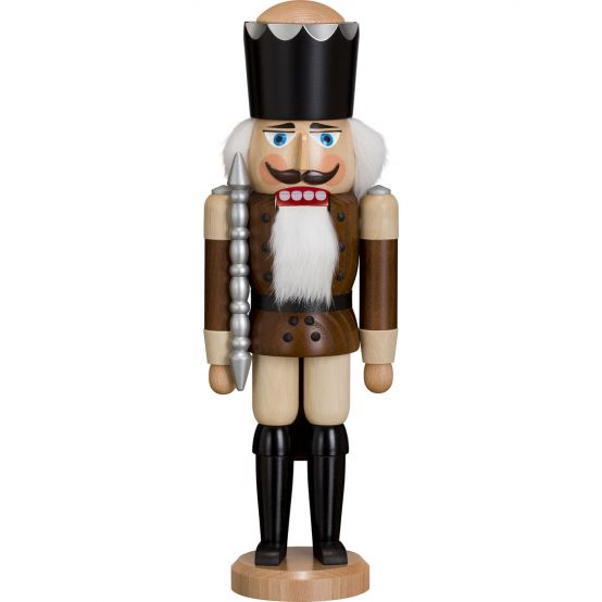 Nutcracker - King, brown glaze, 39cm